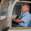 Flight instructor Harold Price sits in the cockpit of his Piper Tomahawk at the Logansport-Cass County Airport. Price has been a pilot and flight instructor for the past 50 years and has close to 29,000 flight hours in the air. Fran Ruchalski | Pharos-Tribune