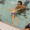 Swim Instructor Whitney Wright teaches Rowan Beck to float on his back as part of the swim training for kindergarten students at the pool at Lewis Cass High School. Fran Ruchalski | Pharos-Tribune