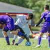 Logansport midfielder Oliver Liborio (9) fights for possession of the ball as the Berries took on the Bearcats of Muncie Central on Saturday afternoon. Fran Ruchalski | Pharos Tribune
