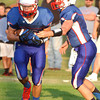 FILE<br /> Brayton Jellison takes the handoff from quarterback Quentin Douglas versus Frontier.
