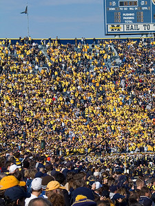 Student section.  They are urged to wear Maize because it shows up better on TV.