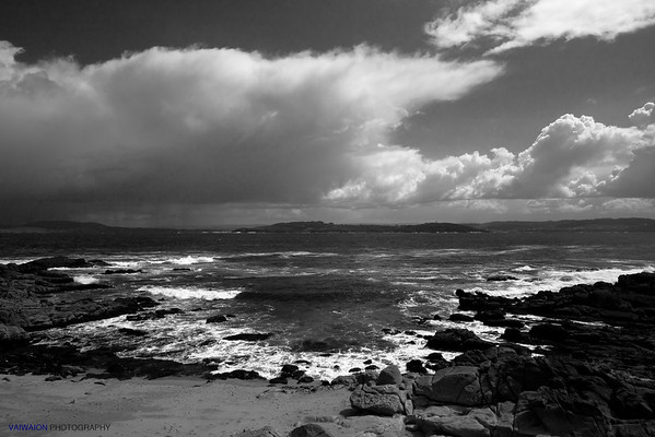 Untamed Coast in Black and White. Muros, A Coruña. Spain.