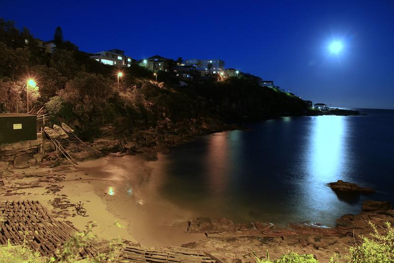 Gordons Bay under a full moon