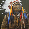Sitting Bull with headdress