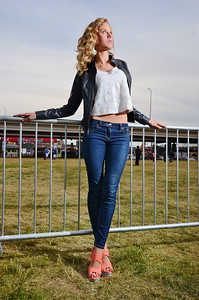 Caroline Bollinger poses for a photo during the Fest-A-Ville Model Search at Waterfront Park.