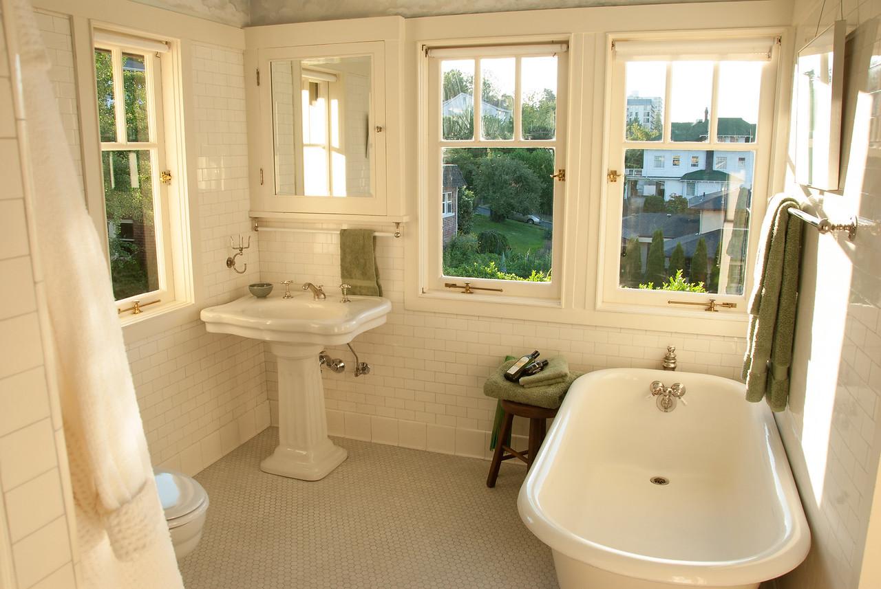 Master bath and second floor bathroom