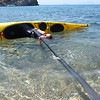 Hanne sculling with a Northern Light paddle