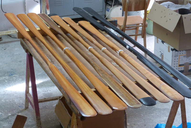My Greenland paddle collection at the end of 2012