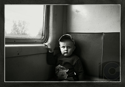 A BOY RIDES THE TRAIN - Outside Moscow, Russia
