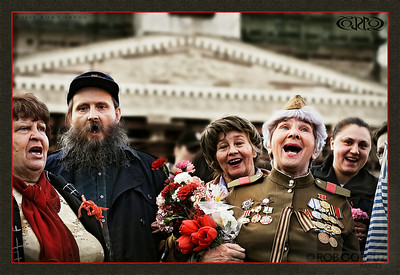 VETERANS SING AT VICTORY DAY - Moscow, Russia