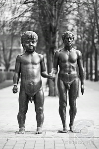 FATHER & SON SCULPTURE - Tartu, Estonia  I had no idea what was going on with this sculpture when I saw it, and it certainly struck me as bizarre and unsettling.  I later looked it up and discovered that the artist Ulo Oun  apparently meant to show the connection and difference between father (represented by the self-portrait of himself) and son (a likeness of his son Kristjan at the age of 18 months).  Oun chose to make both figures at the same height to emphasize the  difference in body proportions as we age.  While I'll admit this sculpture was thought-provoking (enough to make me still wonder about it over a year later), and knowing the intent of the artist helps me to better understand and appreciate this piece, I'd still argue that the addition of a couple of well-placed articles of clothing might have avoided giving the impression that this sculpture is an ode to pedos.