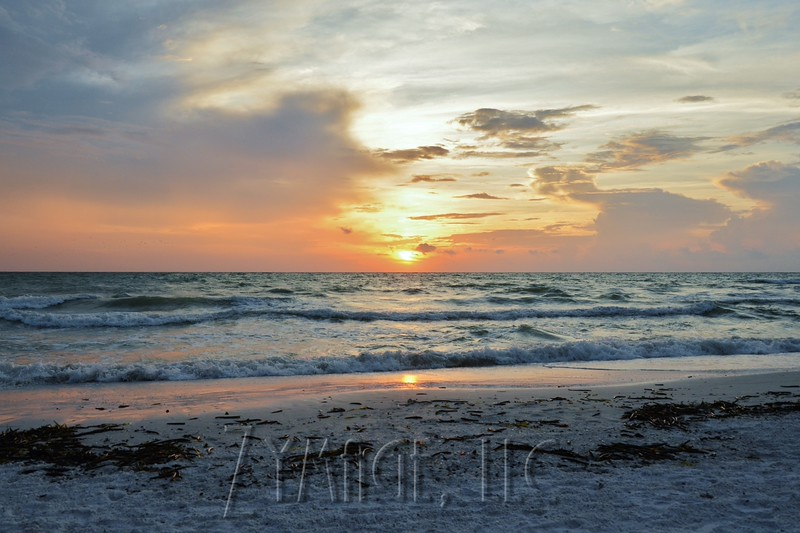 Sunset over the Gulf of Mexico.