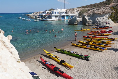 Mitikas harbour beach, Milos