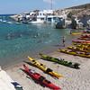 Mitikas harbour beach, Milos