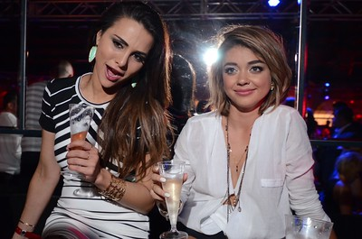 "Star of ""The Bachelor"" Andi Dorfman and actress Sarah Hyland in the VIP seating at the 5th Annual Fillies and Stallions Derby Eve Party at Mellwood Arts Center. Friday, May 1, 2015"