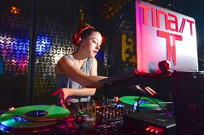 DJ Tina T at Marquee Nightclub.