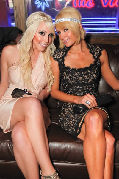 Paris Hilton (right) and guest at Sports and Social Club, May 1, 2009.