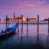 GONDOLAS AT DUSK - Venice, Italy