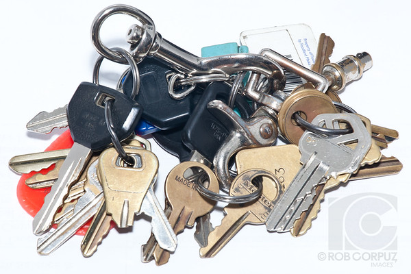 This is the set of keys that my Dad always carried around with him.