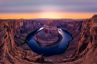 Sunset at the Iconic Horseshoe Bend.