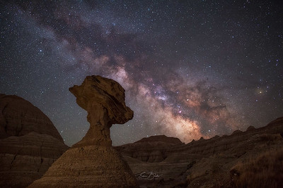 The Pedestal Rock and the Glittering Sky.