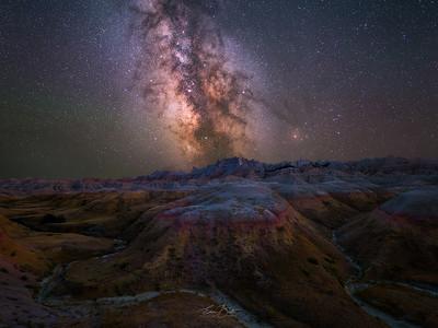 The radiant glow of Badlands Night Sky.