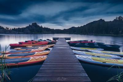 Sylvan Lake before the Crack of Dawn.