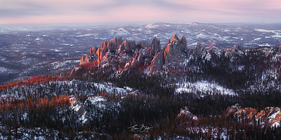 Cathedral Spires First Light.