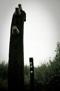 97 Fence poles