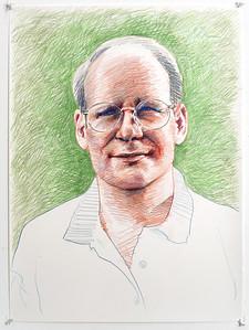 Portrait study - Tom S; colored pencil, 22 x 30 in, 1998
