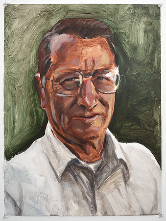 Portrait study - my father (Taylor C); acrylic on paper, 22 x 30 in, 1995