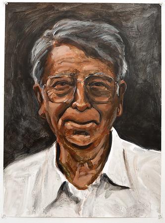 Portrait study - Weldon B; acrylic on paper, 22 x 30 in, 1995
