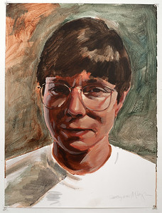 Portrait study - Dorothy; acrylic on paper, 22 x 30 in, 1995