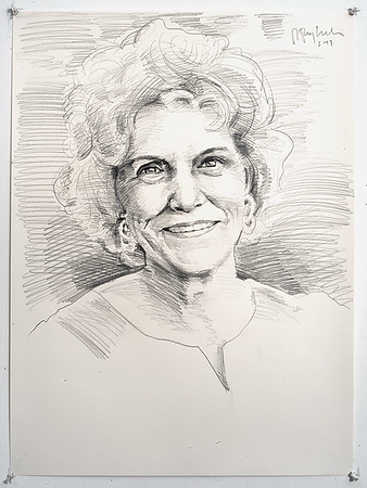 Portrait study - Frankie S; graphite, 22 x 30 in, 1995