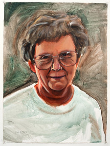 Portrait study - my mother (Rose Marilyn C); acrylic on paper; 22 x 30 in; 1998