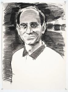 Portrait study - Alan A; charcoal, 22 x 30 in, 1997