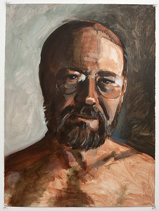 Portrait study - Jim W; acrylic on paper, 22 x 30 in, 1995