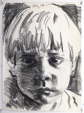 Portrait study - Edward; charcoal on paper, 22 x 30, 1996