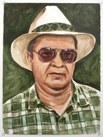 Portrait study - Olin D; acrylic on canvas, 22 x 30 in, 1995