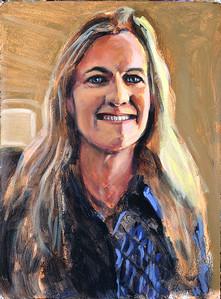Portrait study - BB v1; acrylic on paper, 22 x 30 in, 2018