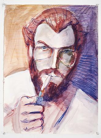 Portrait study - Kevin B; mixed media, 22 x 30 in, 2000