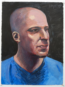 Portrait study - Derek T; acrylic on paper, 22 x 30 in, 2007