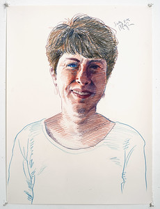 Portrait study - Judy L; colored pencil, 22 x 30 in; 1998