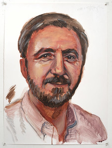 Portrait study - Kipp B; acrylic on paper, 22 x 30 in, 1995