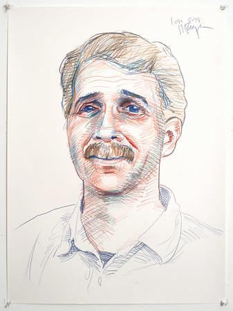 Portrait study - Lon B; colored pencil, 22 x 30 in, 1998