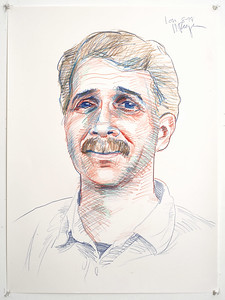 Portrait study - Lon B; colored pencil, 22 x 30 in, 1998
