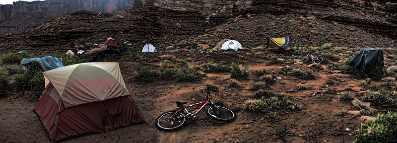 Camp, White Rim Trail, Canyonlands National Park