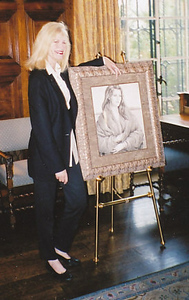 Morgan at her reception and art exhibition for the Fine Arts Club of Pasadena