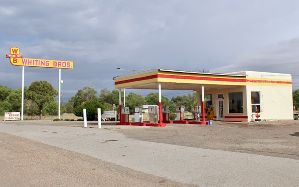 Whiting Bros service station on Route 66 (2018)