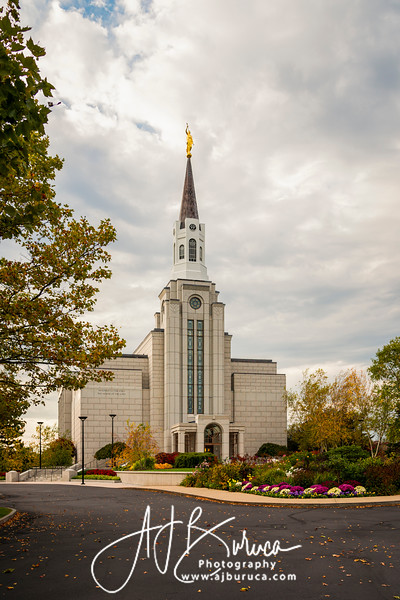 Fall Afternoon Boston Massachusetts Temple